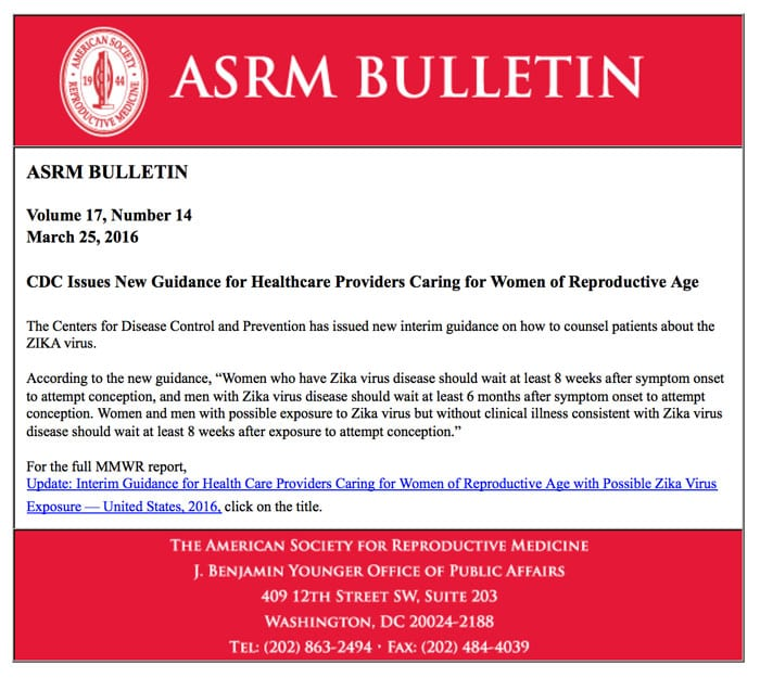 ASRM answers the question,